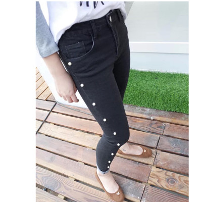 DENIM  JEANS  กางเกงยีนส์ขายาวเอวสูงแฟชั่น กางเกงยีนส์เกาหลี ญี่ปุ่นแฟชั่น รุ่นคลาสสิก กางเกงยีนส์แฟชั่นผู้หญิง คอลเลคชั่น ออทั่ม แฟชั่น