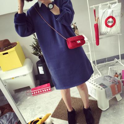 DRESS  ชุดเดรสแขนยาว ชุดเดรส/ชุดวันพีชทรงหลวม คอลเลคชั่น ออทั่ม วินเทอร์ เสื้อผ้าสำหรับผู้หญิง แฟชั่น เกาหลี ญี่ปุ่นสไตล์
