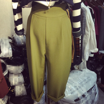 TROUSERS  กางเกงเอวสูงผู้หญิงแฟชั่น กางเกงรุ่นคลาสสิก ทรงหลวมแฟชั่น เกาหลี ญี่ปุ่น