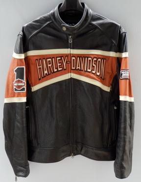 เสื้อแจ๊คเก็ต harley davidson ของแท้ เสื้อแจ๊คเก็ตหนังพร้อมเสื้อกั๊กผ้ายืดมีฮู้ ไซส์ M รอบอก 42