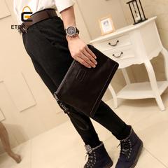 กระเป๋าผู้ชาย ราคาถูก กระเป๋าสะพาย ถือ คลัทซ์ เท่ๆ มี สีดำ สีน้ำเงิน