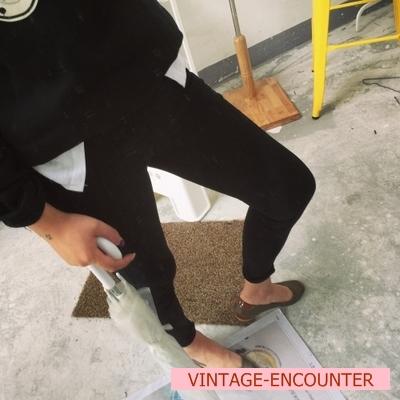 TROUSERS  กางเกงเอวสูงผู้หญิงแฟชั่น กางเกงทรงสกินนี่ กางเกงรุ่นคลาสสิก ทรงpencil pants แฟชั่น เกาหลี ญี่ปุ่น