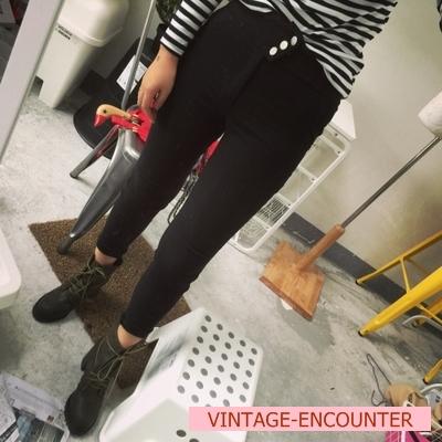 TROUSERS  กางเกงเอวสูงผู้หญิงแฟชั่น กางเกงทรงสกินนี่ ผ้ากำมะหยี่ กางเกงรุ่นคลาสสิก ทรงpencil pants แฟชั่น เกาหลี ญี่ปุ่น