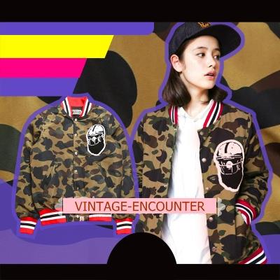 BLAZERS เสื้อแจ็คเก็ต เบสบอล แฟชั่น เกาหลี/ญี่ปุ่น เสื้อแจ็คเก็ตลายพรางแฟชั่นสำหรับผ้หญิง
