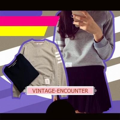 CREW NECK  /  SWEATSHIRT  เสื้อสเวตเตอร์ เสื้อกันหนาวแขนยาวผู้หญิง ทรงหลวม เสื้อแขนยาวผู้หญิงแฟชั่น คอลเลคชั่น ออทั่ม วินเทอร์ สไตล์เกาหลี/ญี่ปุ่น