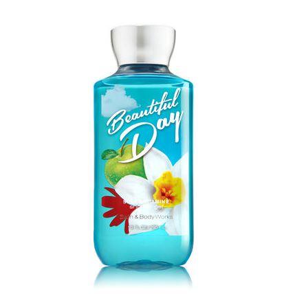 **พร้อมส่ง**Bath & Body Works Beautiful Day Shea & Vitamin E Shower Gel 295ml. เจลอาบน้ำกลิ่นหอมติดกายนานตลอดวัน กลิ่นนี้ให้กลิ่นหอมสดชื่นของแอปเปิ้ลผสมกับกลิ่นของดอกเดซี่ หอมน่ารักๆ กลิ่นคล้ายๆน้ำหอมของ DKNY แอปเปิ้ลเขียวเลยคะ