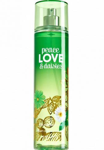 **พร้อมส่ง**Bath & Body Works Peace Love & Daisies Fine Fragrance Mist 236 ml. สเปร์ยน้ำหอมที่ให้กลิ่นติดกายตลอดวัน กลิ่นหอมอ่อนหวานของดอกเดชื่กับกลิ่นลาเวนเดอร์ ให้อารมณ์ผ่อนคลายเบาสบาย