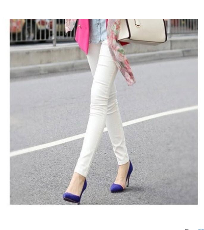 กางเกง กางเกงขายาว กางเกงเลคกิ้ง เลคกิ้ง กางเกงผู้หญิง กางเกงแฟชั่นเลกกิ้ง กางเกงขายาวผู้หญิง กางเกงแฟชั่น กางเกงสวยๆ กางเกงแฟชั่นราคาถูก สีขาว
