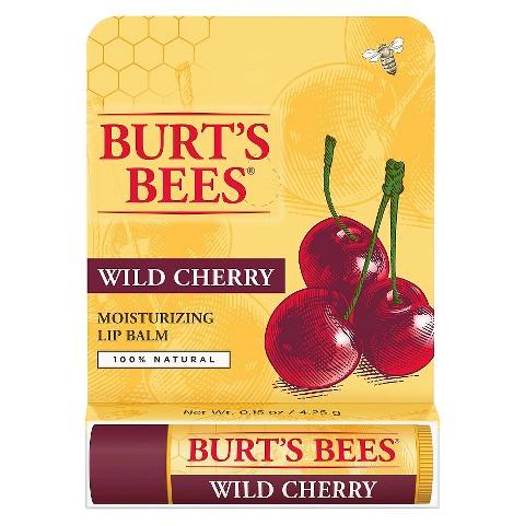 **พร้อมส่ง**BURT'S BEES Moisturizing Lip Balm Wild Cherry ขนาด 0.15 oz. ลิปบาล์มจากส่วนผสมของผลเชอร์รีป่า ที่มีมอยเจอร์ไรเซอร์เข้มข้น  บำรุงล้ำลึก สำหรับริมฝีปากที่ลอก แห้งแตกมากเป็นพิเศษ ให้กลับมาชุ่มชื้นเนียนเรียบขึ้น พร้อมกลิ่นหอมสดชื่นของเชอร์รี่