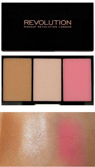 *พร้อมส่ง*Makeup Revolution MUR Iconic Blush Bronze and Brighten สี SMOULDER สำหรับผิวขาวถึงกลางๆค่ะ บรอนเซอร์เนื้อซาติน + ไฮไลท์เนื้อซาติน + ปัดแก้มสีชมพูนมเนื้อแมท 3inOne ตลับเดียวได้สามอย่างคุ้มสุดๆ ลอง Swatch ดูแล้วสีนุ่มมากค่ะ เกลี่ยง่าย ไม่เป็นปื้น