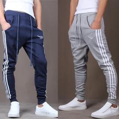กางเกงผู้ชาย ราคาถูก กางเกงฮาเร็ม เท่ๆ มี สีเทาอ่อน สีกองทัพเรือ สีดำ มี ไซร์ 28-35