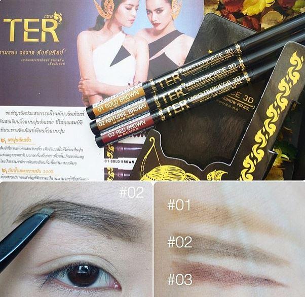 **พร้อมส่ง*TER Masterpiece 3D Water Proof Auto Eyebrow Pencil ดินสอเขียนคิ้วแบรนด์ใหม่ ดินสอเขียนคิ้วเนื้อฝุ่นอัดแข็ง ทนน้ำทนมัน คิ้วไม่หายทั้งวัน เผลอรูดคิ้วไม่หลุด คิ้วที่ได้จะซอฟ์ทธรรมชาติ เบาๆค่ะ หรือจะเอาไว้เขียนโครงก่อนลงคิ้วน้ำสำหรับมือใหม่ก็ได้ค่ะ