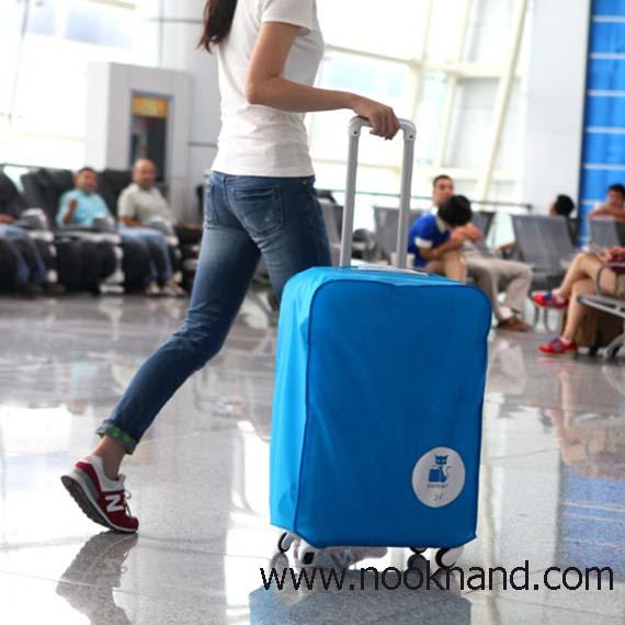 (ไซด์22นิ้ว)ผ้าคลุมกระเป๋าเดินทางไกล ป้องกันรอยขีดข่วยกระเป๋าเวลาเดินทางหรือโหลดกระเป๋าเข้าเครื่องบิน
