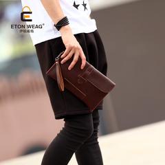กระเป๋าผู้ชาย ราคาถูก กระเป๋าคลัทซ์ ถือ มี สีดำ-กาแฟ สีกาแฟ-ดำ สีดำ สีกาแฟ