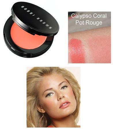 Bobbi Brown Pot Rouge for Lips & Cheeks # 2 Calypso Coral บลัชเนื้อครีมหลากหลายคุณประโยชน์ ปรับสูตรใหม่อีกครั้งพร้อมตลับแบบใหม่ที่ดูทันสมัยยิ่งขึ้น สามารถใช้ได้ทั้งปัดแก้มและทาริมฝีปากให้สวยใส สีระเรื่อ ดูสุขภาพดี