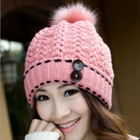 หมวกแฟชั่นกันหนาว หมวกไหมพรมผู้หญิง หมวกกันหนาวผู้หญิง