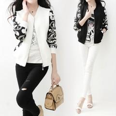 เสื้อผ้าผู้หญิง ราคาถูก เสื้อแจ็คเก็ต เสื้อคลุม น่ารัก มี สีดำ สีขาว มี ไซร์ M L XL XXL