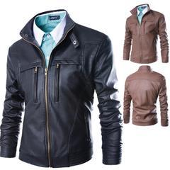 เสื้อผ้าผู้ชาย ราคาถูก เสื้อแจ็กเก็ตหนัง เท่ๆ  มี สีน้ำตาล สีดำ  มี ไซร์ M L XL XXL