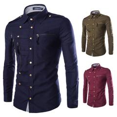 เสื้อผ้าผู้ชาย ราคาถูก เสื้อเชิ๊ตเท่ๆ มี สีกองทัพเขียว สีกองทัพเรือ สีไวน์แดง สีดำ มี ไซร์  M L XL XXL