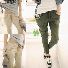 กางเกงผู้หญิง ราคาถูก กางเกงฮาเร็ม เท่ๆ มี สีดำ สีเขียวเข้ม สีกากี มี ไซร์ S M L XL XXL