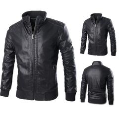 เสื้อผ้าผู้ชาย ราคาถูก เสื้อแจ็กเก็ตหนัง เท่ๆ  มี สีดำ-B77 สีดำ-B88  มี ไซร์ XL XXL XXXL