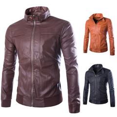 เสื้อผ้าผู้ชาย ราคาถูก เสื้อแจ็กเก็ตหนัง เท่ๆ  มี สีน้ำตาล สีน้ำตาลอ่อน สีดำ  มี ไซร์ XL XXL XXXL