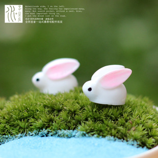 พร้อมส่ง>> DIYกระต่ายน้อยน่ารัก ตุ๊กตากระต่ายเรซิ่นตกแต่งสวนจิ๋ว