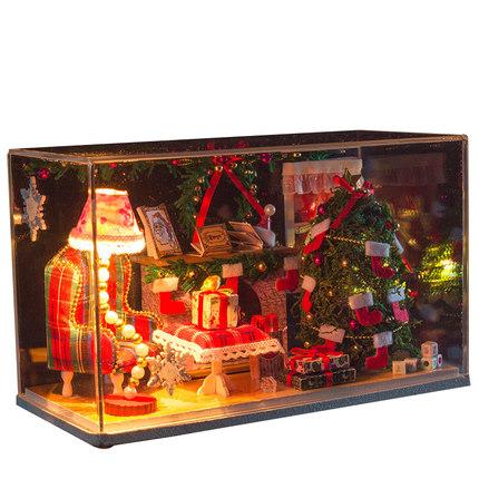 พร้อมส่ง>> DIYโมเดลวันคริสต์มาส โมเดลจิ๋ว บ้านตุ๊กตา ชุดอุปกรณ์ครบเซ็ตในกล่อง