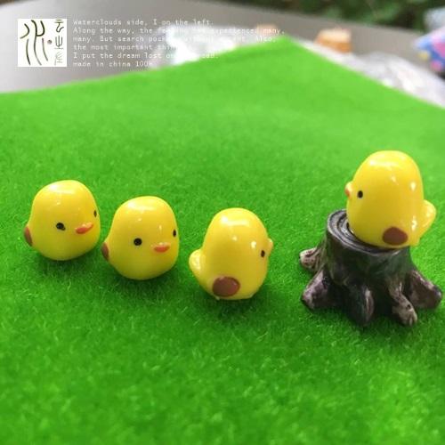 พร้อมส่ง>> DIYตุ๊กตานกสีเหลืองน่ารัก ชุดอุปกรณ์ตกแต่งสวนถาด