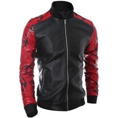 เสื้อผ้าผู้ชาย ผู้หญิง ราคาถูก เสื้อแจ็กเก็ตหนัง เท่ๆ  มี สีดำ-ขาว สีดำ-แดง มี ไซร์ M L XL XXL