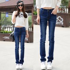 เสื้อผ้าผู้หญิง ราคาถูก กางเกงยีนส์ เท่ๆ มี สีฟ้า มี ไซร์ 25-34