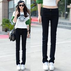 กางเกงผู้หญิง ผู้ชาย ราคาถูก กางเกงยีนส์ เท่ๆ มี สีดำ มี ไซร์ 25-34