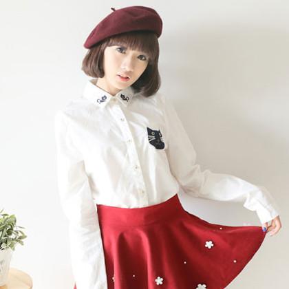 เสื้อเชิ้ต เสื้อเชิ้ตเกาหลี เสื้อแขนยาว เสื้อทำงาน เสื้อผ้าเกาหลี