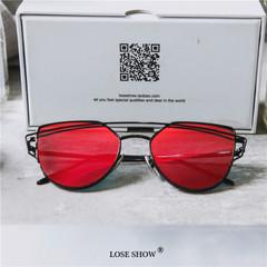 แว่นกันแดด ราคาถูก แว่นตากันแดด มี สีเงิน สีชมพู สีแดง สีดำ