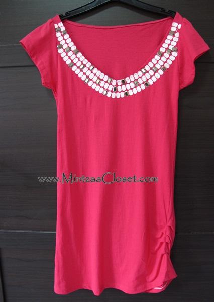 Sale# 02   เดรสสั้นสีชมพู