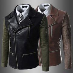 เสื้อผ้าผู้ชาย ผู้หญิง ราคาถูก เสื้อแจ็กเก็ตหนัง เท่ๆ  มี สีน้ำตาล สีดำ มี ไซร์ M L XL 2XL