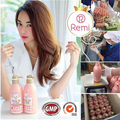 Remi Shampoo แชมพูเรมิ ( ราคาปลีก  690  บาท ) น้ำมันม้าฮอกไกโด & สมุนไพร7ชนิด 400ml.