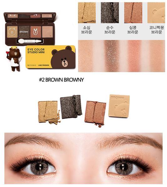 Missha Eye Color Studio Mini (Line Friends Edition) #2 Brown แพคเกจ
