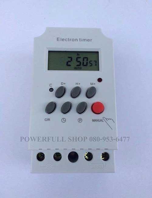 เครื่องตั้งเวลาเปิดปิดไฟ DIGITAL TIMER AC 220V 25A ราคา 390 บาท ฟรี EMS