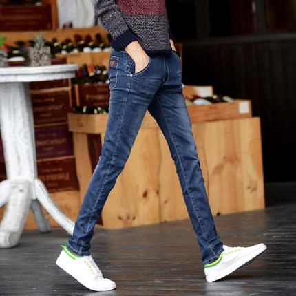 กางเกงยีนส์ผู้ชายขายาว ขาเดฟ แฟชั่น