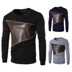 เสื้อผ้าผู้ชาย ราคาถูก เสื้อกันหนาว เสื้อยืด แขนยาว มี สีเทา สีดำ สีกองทัพเรือ มี ไซร์  M L XL XXL