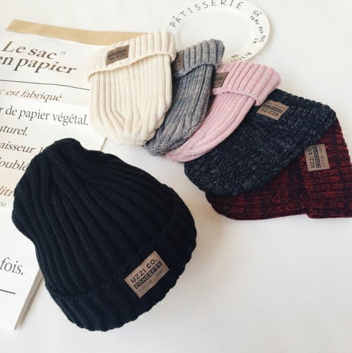 หมวก บีนนี่ ไหมพรม ผ้าร่อง สี: ครีม/เทา/แดง/ดำ/เทาเข้ม/ชมพู