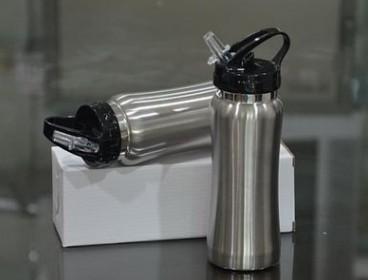 แก้วน้ำ กระบอกน้ำ แก้วสแตนเลส กระบอกน้ำสแตนเลส เก็บความร้อนความเย็น + logo พรีเมี่ยม