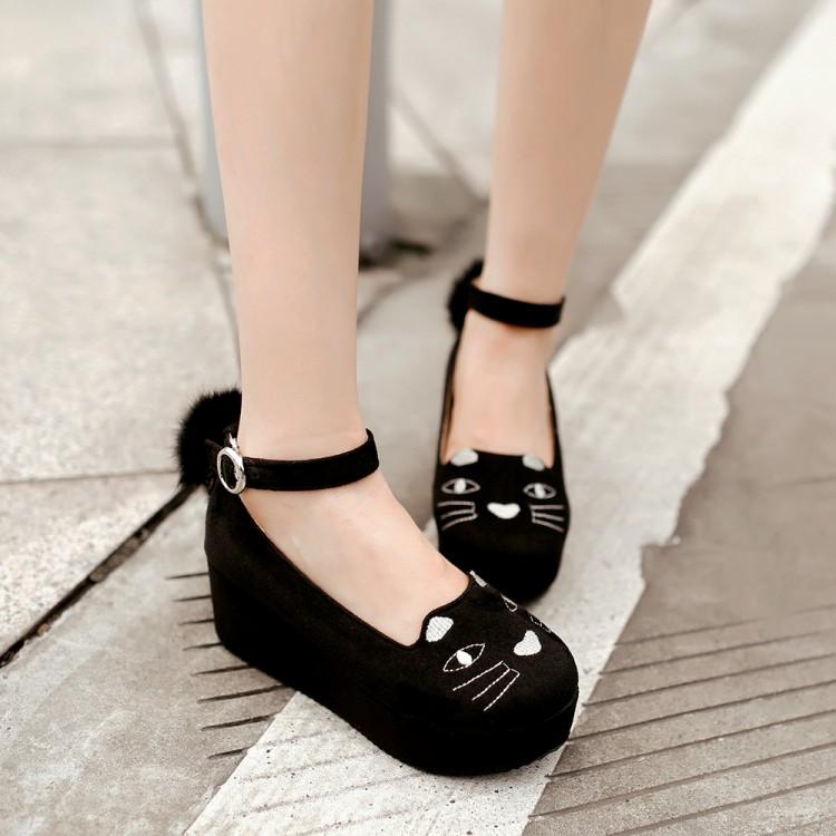 พร้อมส่ง - รองเท้าทรงเรือสีดำ ไซส์ 35