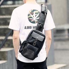 กระเป๋าผู้ชาย ราคาถูก กระเป๋าสะพายอก เอว ถือ มี สีดำ