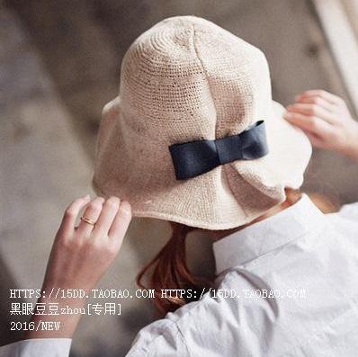 (พร้อมส่ง) หมวก Sunscreen ม้วน/พับเก็บได้ สีเบจ (56-58cm)