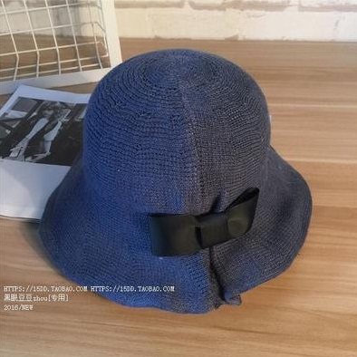 (พร้อมส่ง) หมวก Sunscreen ม้วน/พับเก็บได้ สีน้ำเงิน (56-58cm)