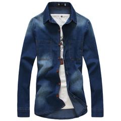 เสื้อผ้าผู้ชาย ผู้หญิง ราคาถูก เสื้อเชิ๊ต เท่ๆ มี สีน้ำเงิน สีฟ้า มี ไซร์ S M L XL XXL