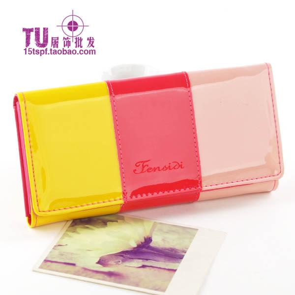 กระเป๋าสตางค์ สีสันสวยสดใส (พร้อมส่งสีเหลือง+สีแดง+สีชมพู)