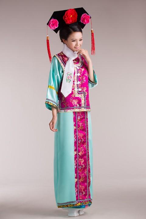 ++พร้อมส่ง++ชุดจีนหญิงโบราณ+ที่ประดับศีรษะดอกไม้